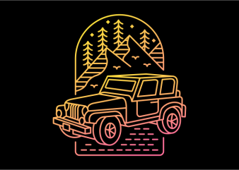 My Jeep My Adventure vector t-shirt design template