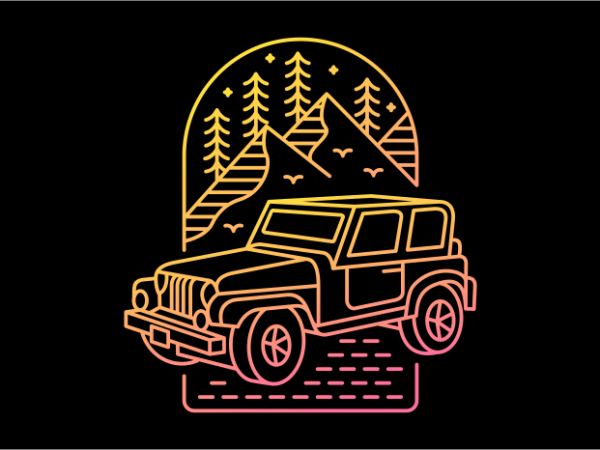 My Jeep My Adventure vector t-shirt design template