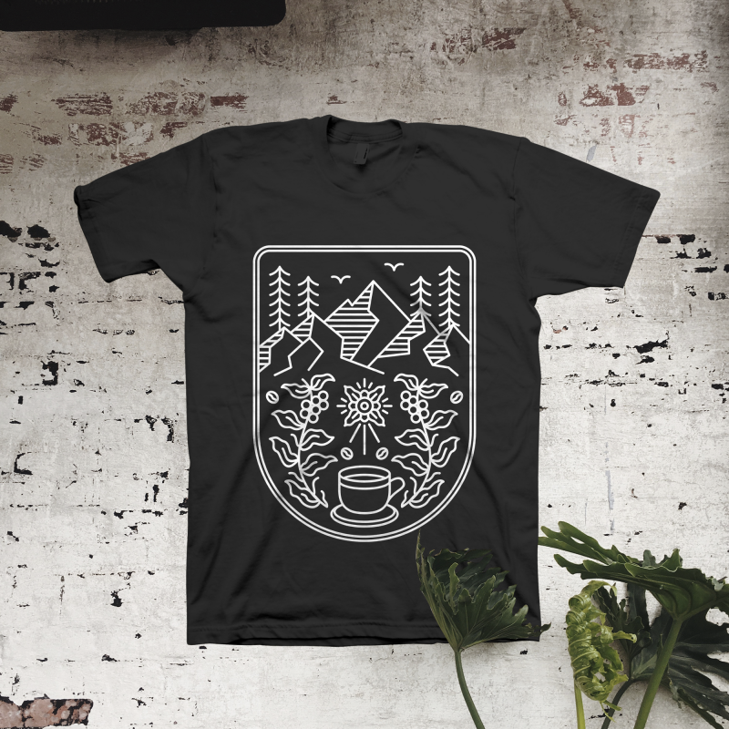 Natural Coffee t shirt designs for printify
