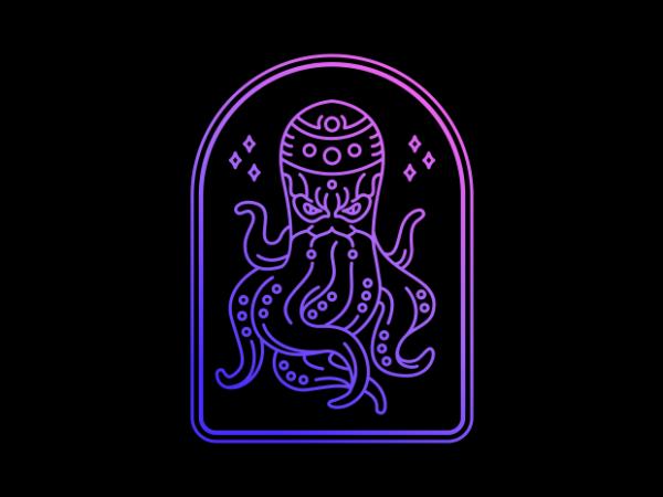 Ninja Octopus tshirt design for sale