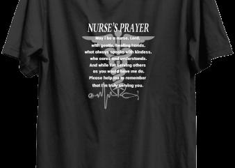 Nurse Prayer t-shirt design for commercial use