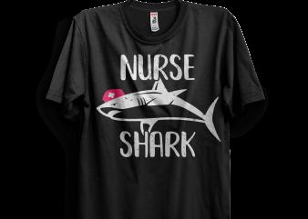 Nurse Shark t shirt design template