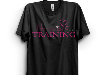 Nurse in Training Pink Heart Stethoscope t-shirt design png