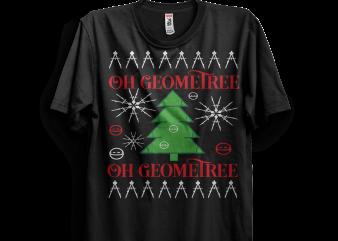 Oh Geometree t shirt design template