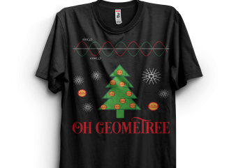 Oh Geometree Funny Christmas buy t shirt design for commercial use