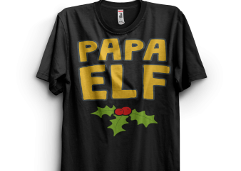 Papa Elf buy t shirt design for commercial use