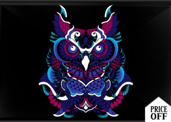 Polynesian Owl tshirt design for sale