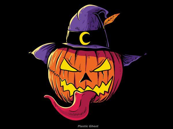 Pumpkin Head Halloween vector shirt design