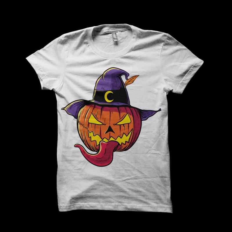 Pumpkin Head Halloween t shirt designs for sale