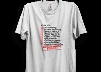 REGISTERED NURSE tee buy t shirt design