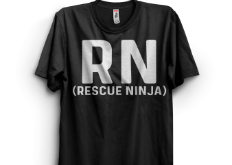 RN (Rescue Ninja) t shirt design online