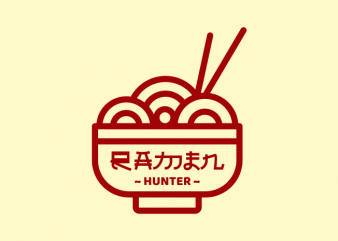 Ramen Hunter t shirt design online