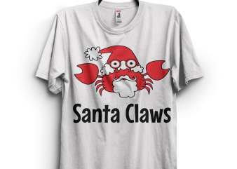 Santa Claws Crab t shirt design for purchase