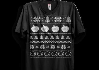 Sherlock Ugly Christmas Sweater t shirt template vector