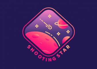 Shooting Star vector t shirt design artwork