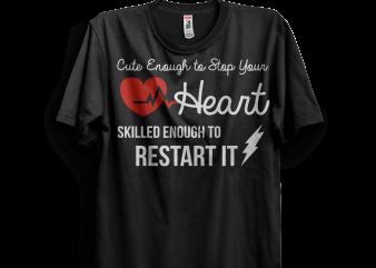 Skilled Enough Restart It t shirt design for download
