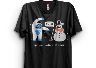 Snowman Bros t shirt design to buy