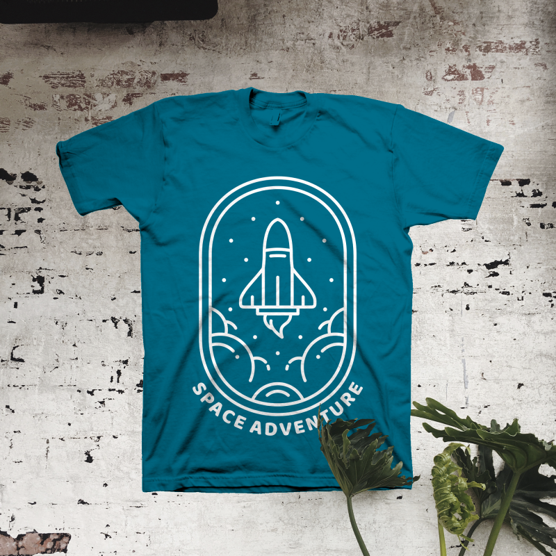 Space Adventure commercial use t shirt designs