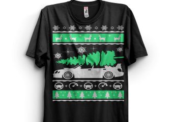 Subaru Impreza Car Ugly Christmas Shirt t shirt template vector