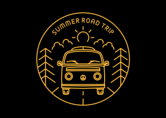 Summer Road Trip vector shirt design