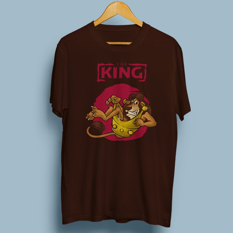 THE KING tshirt designs for merch by amazon