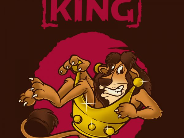 THE KING t-shirt design png