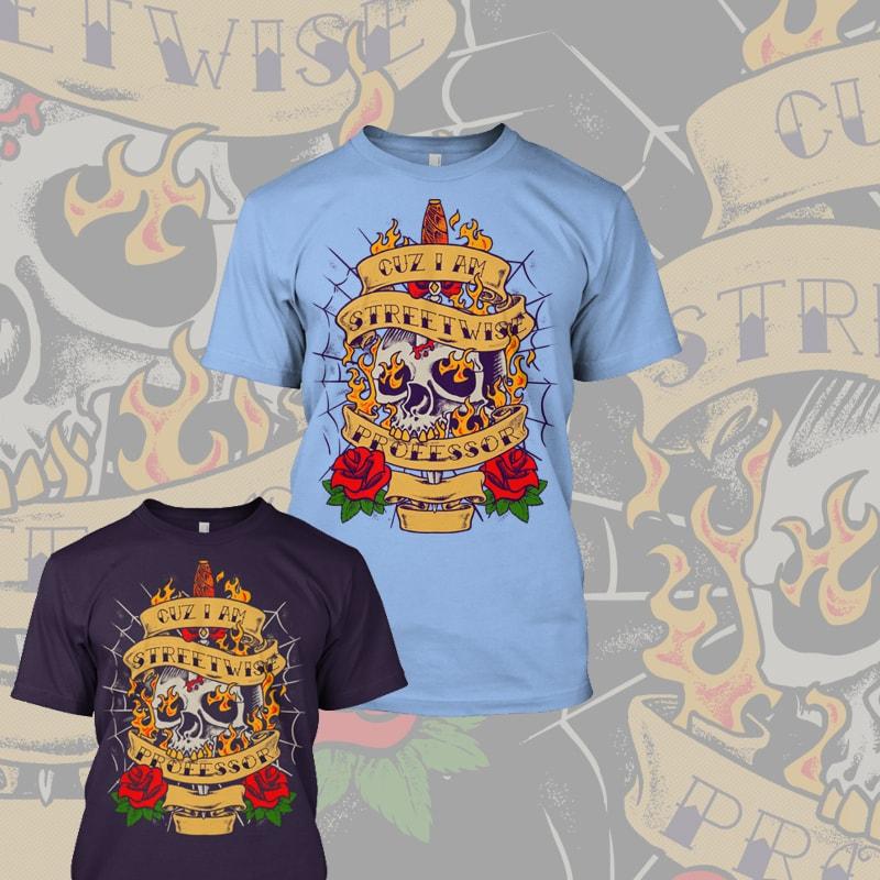 Trad Tattoo Style Design tshirt designs for merch by amazon