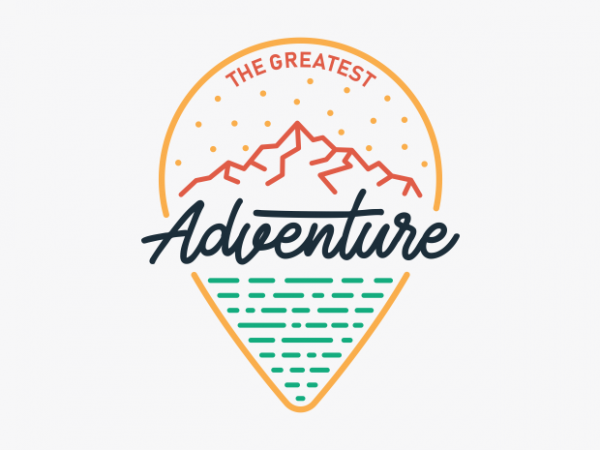 The Greatest Adventure t shirt design for sale