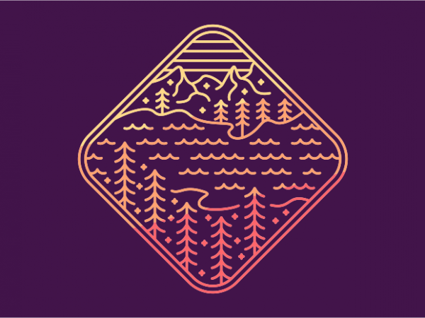 The Lost Lake t shirt design png