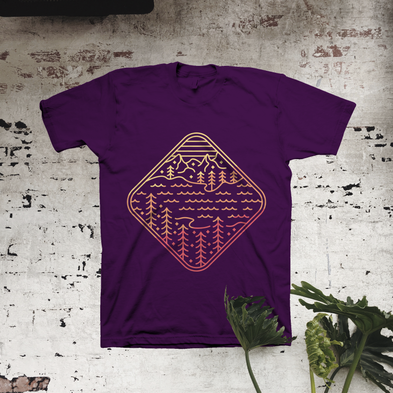 The Lost Lake t shirt design graphic