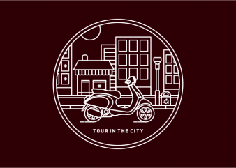 Tour in The City print ready shirt design