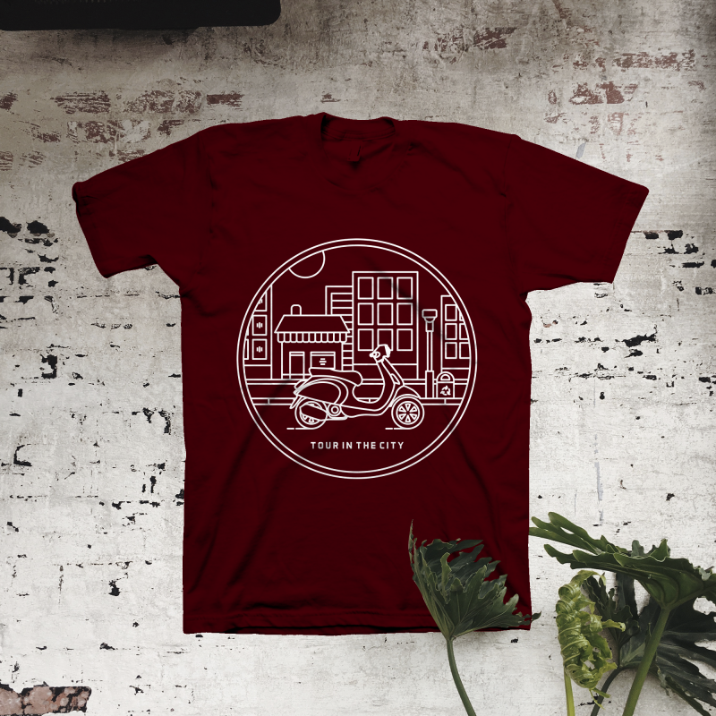 Tour in The City t shirt designs for print on demand