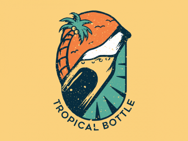 Tropical Bottle t shirt design for purchase