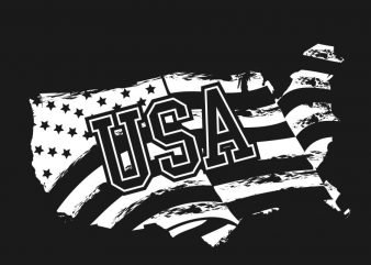 American (USA) flag design t-shirt