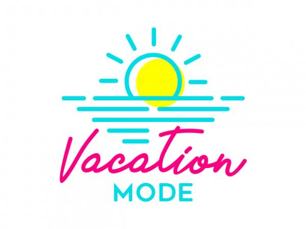 Vacation Mode buy t shirt design