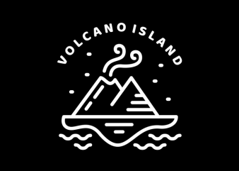 Volcano Island tshirt design for sale