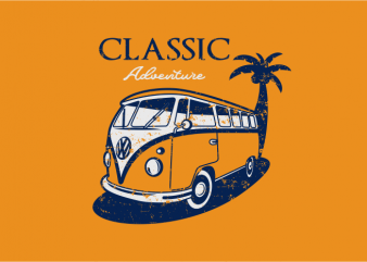Classic Adventure vector shirt design