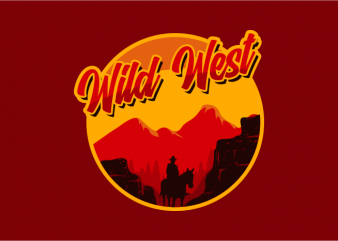 Wild West Desert t shirt design for purchase