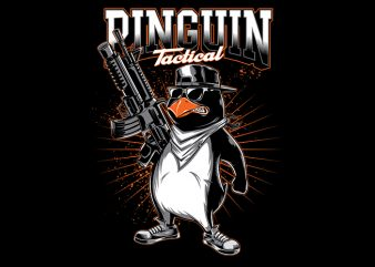 pengun tactical Vector t-shirt design