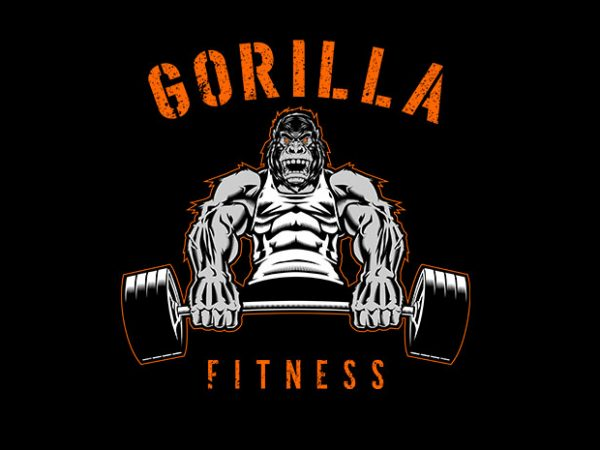 Gorilla Fitness Vector t-shirt design