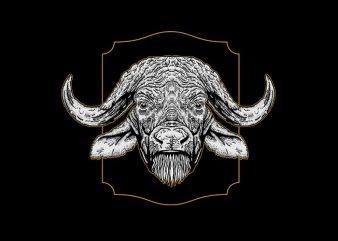 Bufallo Vector t-shirt design
