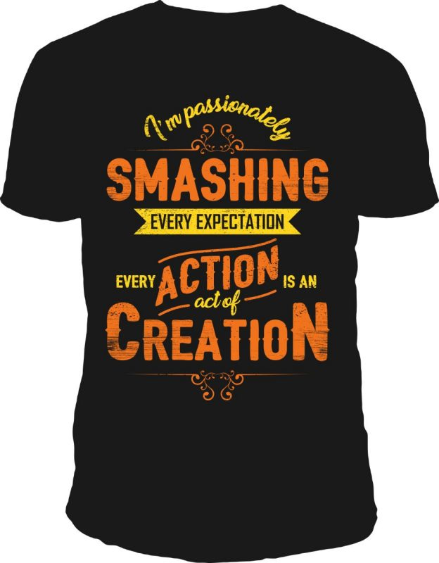 act of creation t-shirt design vector t shirt designs for print on demand