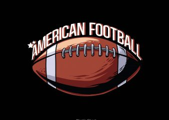 American football vector shirt design