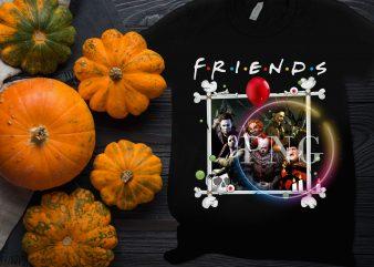 Friends horror IT team funny T shirt design
