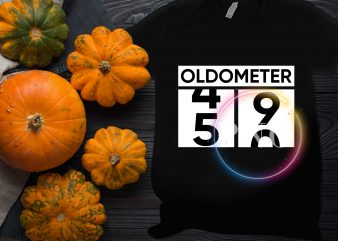 OLDOMETER 49 to 50 Birthday 50th gifts 1969 T shirt design
