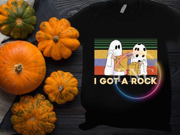 I got a rock vintage halloween costume t shirt design