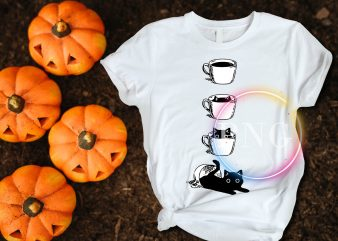 Black Cat Coffe T shirt design