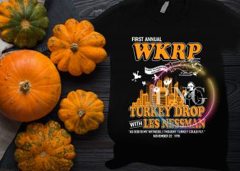 First annual WKRP Turkey Drom with les Nessman T shirt design