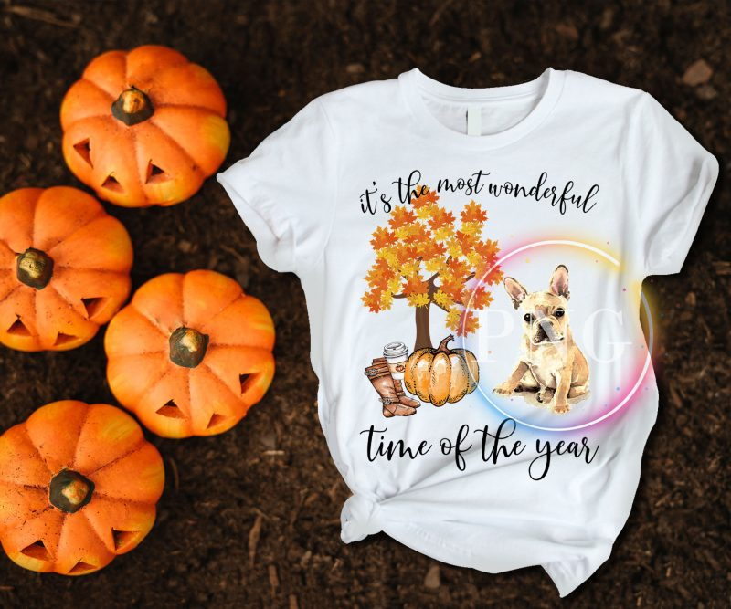 It's the most wonderful time of the year french bulldog T shirt tshirt designs for merch by amazon