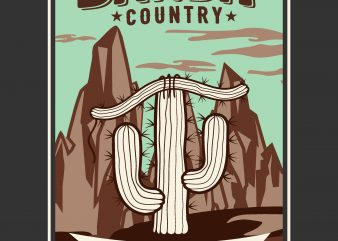 Bandit country t shirt design vector